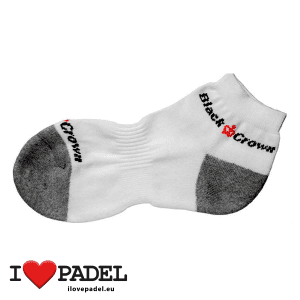 I Love Padel Black Crown socks long and short for Padel, in black and white. Calcetines para padel, largos y cortos en negro y blanco 01