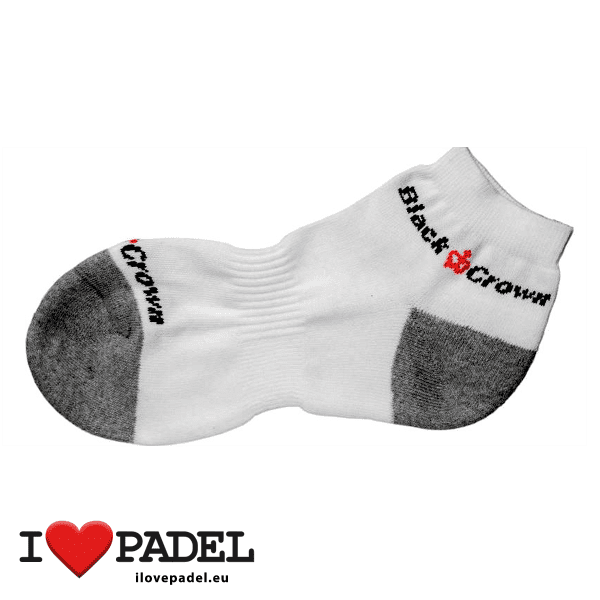 I Love Padel Black Crown socks long and short for Padel, in black and white. Calcetines para padel, largos y cortos en negro y blanco 01