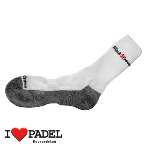 I Love Padel Black Crown socks long and short for Padel, in black and white. Calcetines para padel, largos y cortos en negro y blanco 03