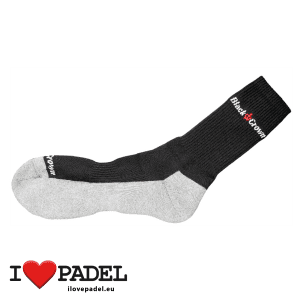 I Love Padel Black Crown socks long and short for Padel, in black and white. Calcetines para padel, largos y cortos en negro y blanco 04