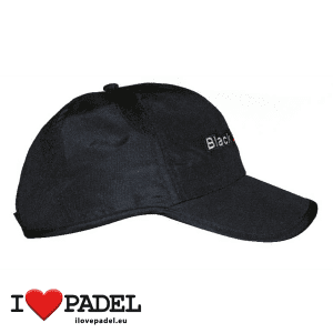 I Love Padel Black Crown accessories for Padel, Caps and Sun Caps in black and white. Complementos para padel, corra, hat y visera visor en negro y blanco 01