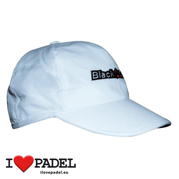 I Love Padel Black Crown accessories for Padel, Caps and Sun Caps in black and white. Complementos para padel, corra, hat y visera visor en negro y blanco 02