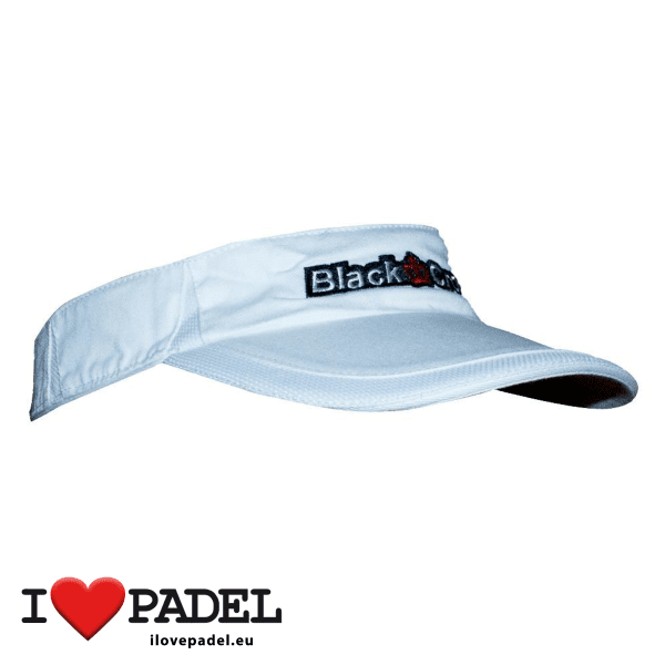 I Love Padel Black Crown accessories for Padel, Caps and Sun Caps in black and white. Complementos para padel, corra, hat y visera visor en negro y blanco 03