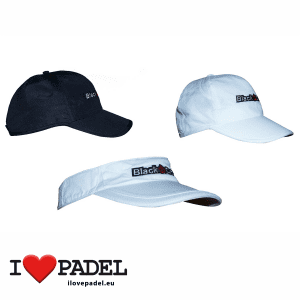 I Love Padel Black Crown accessories for Padel, Caps and Sun Caps in black and white. Complementos para padel, corra, hat y visera visor en negro y blanco
