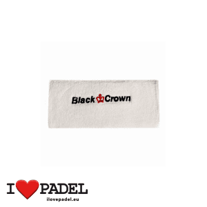 I Love Padel Black Crown wrist sweatband for Padel in black and white. Muñequeros para padel en negro y blanco 01