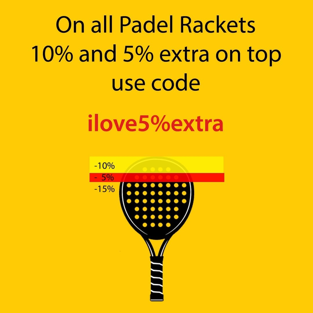 ILP I Love Padel 10% discount all Padel Rackets, Paddle Racquets, Palas de Pádel, Black Crown and Royal Padel 21-10-2019 03