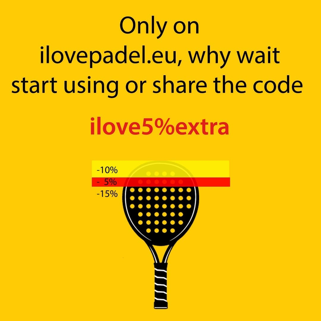 ILP I Love Padel 10% discount all Padel Rackets, Paddle Racquets, Palas de Pádel, Black Crown and Royal Padel 21-10-2019 04