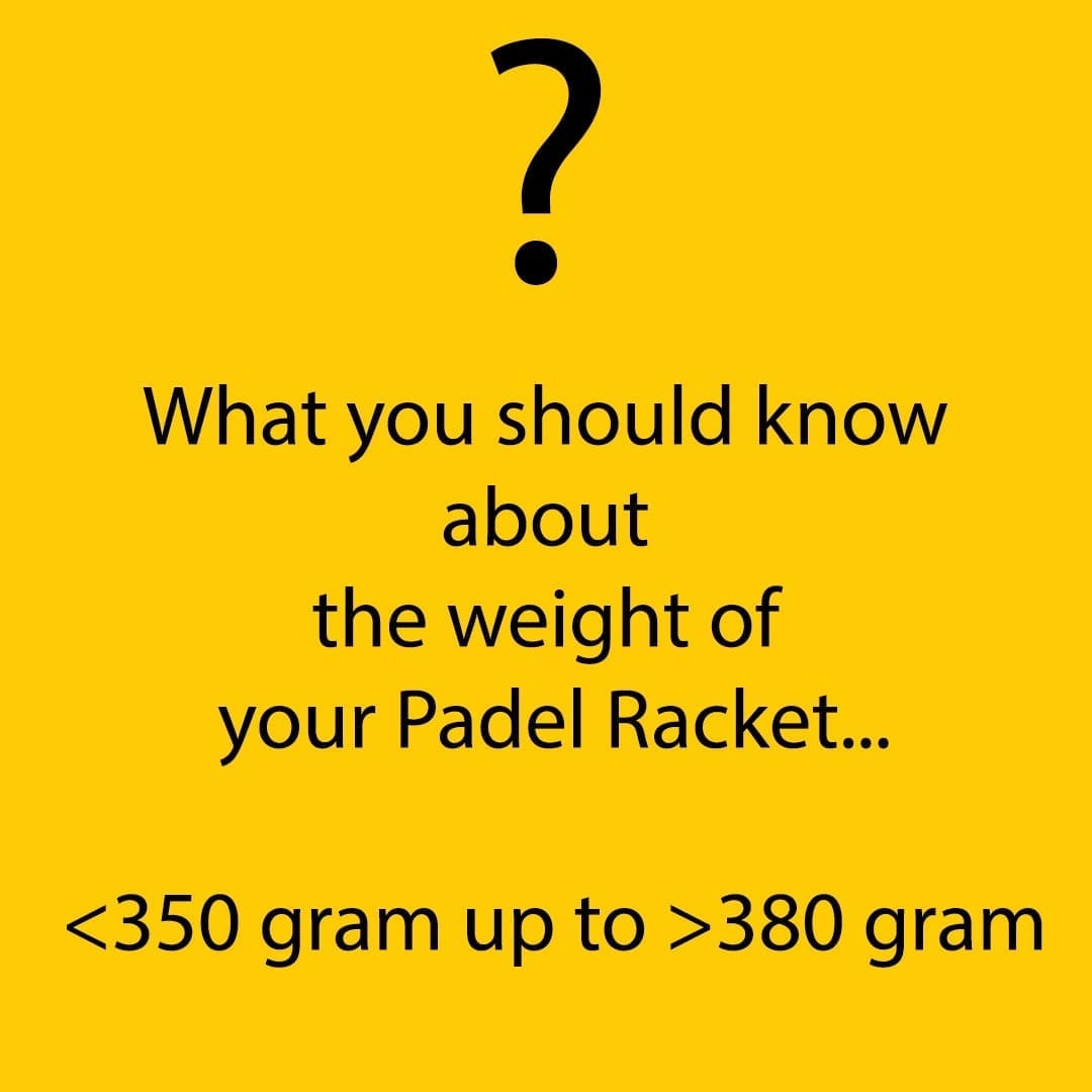 I Love Padel what weight should my Padel Paddle racket racquet be 02