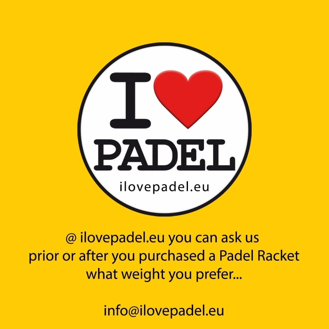 I Love Padel what weight should my Padel Paddle racket racquet be 05