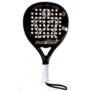 Padel Racket Junior Black Crown | Level: Medium | Power 70%, Control 90%, 1