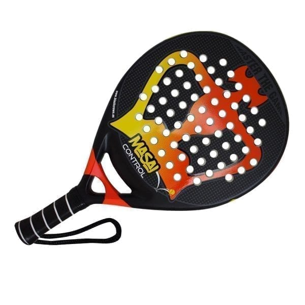 Padel Racket Masai Control Black Crown | Level: Advanced, Competition | Power 90%, Control 80%, 2
