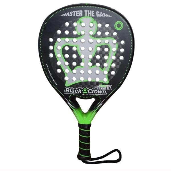 I Love Padel 2021 Black Crown | Padel Racket Piton Attack 12k | Level: Advanced, Competition, Professional | Power 90%, Control 90%, 1