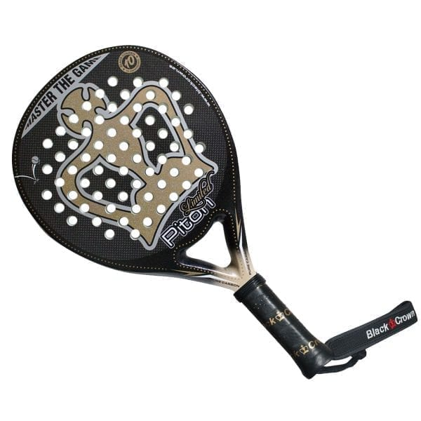 Padel Racket Piton Limited 2021 Black Crown | Level: Competition, Professional | Power 95%, Control 100%, 2