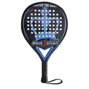 Black Crown | Padel Racket Shark | Level: Medium | Power 80% Control 90%, 1
