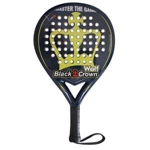I Love Padel, Black Crown | Padel Racket Wolf | Level: Medium | Power 70%, Control 90%, 1
