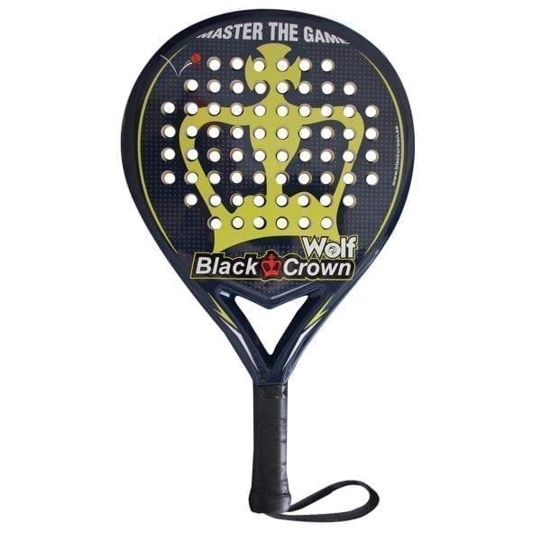 I Love Padel, Black Crown | Padel Racket Wolf | Level: Medium | Power 70%, Control 90%, 1