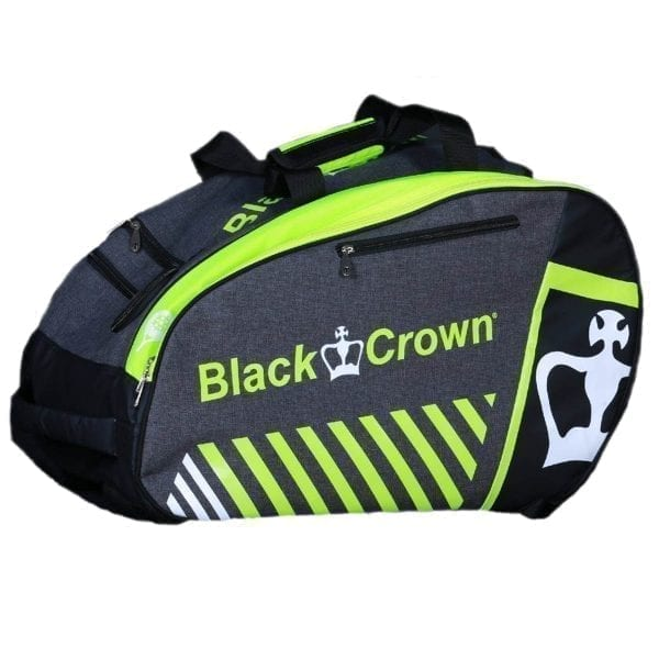 Thermal Padel Sports bag / Backpack Work Black Crown | Grey and fluor Green 1