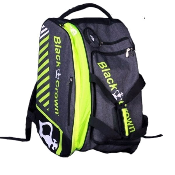 Thermal Padel Sports bag / Backpack Work Black Crown | Grey and fluor Green 2