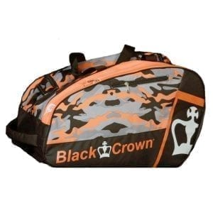 Thermal Padel Sports bag / Backpack Work Black Crown | Orange and Military print 1
