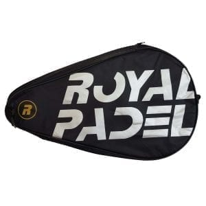 Padel Racket Cover, Royal Padel | Black with Silver Lettering