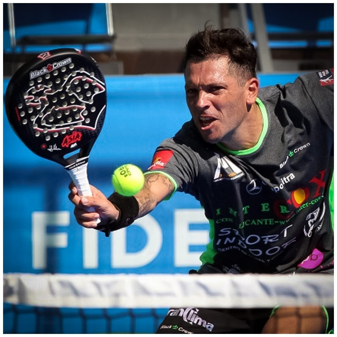 Men Padel Championship, World Padel Tour Player (WPT). I Love Padel, Your Official Padel Shop, Black Crown Asia Padel Racket