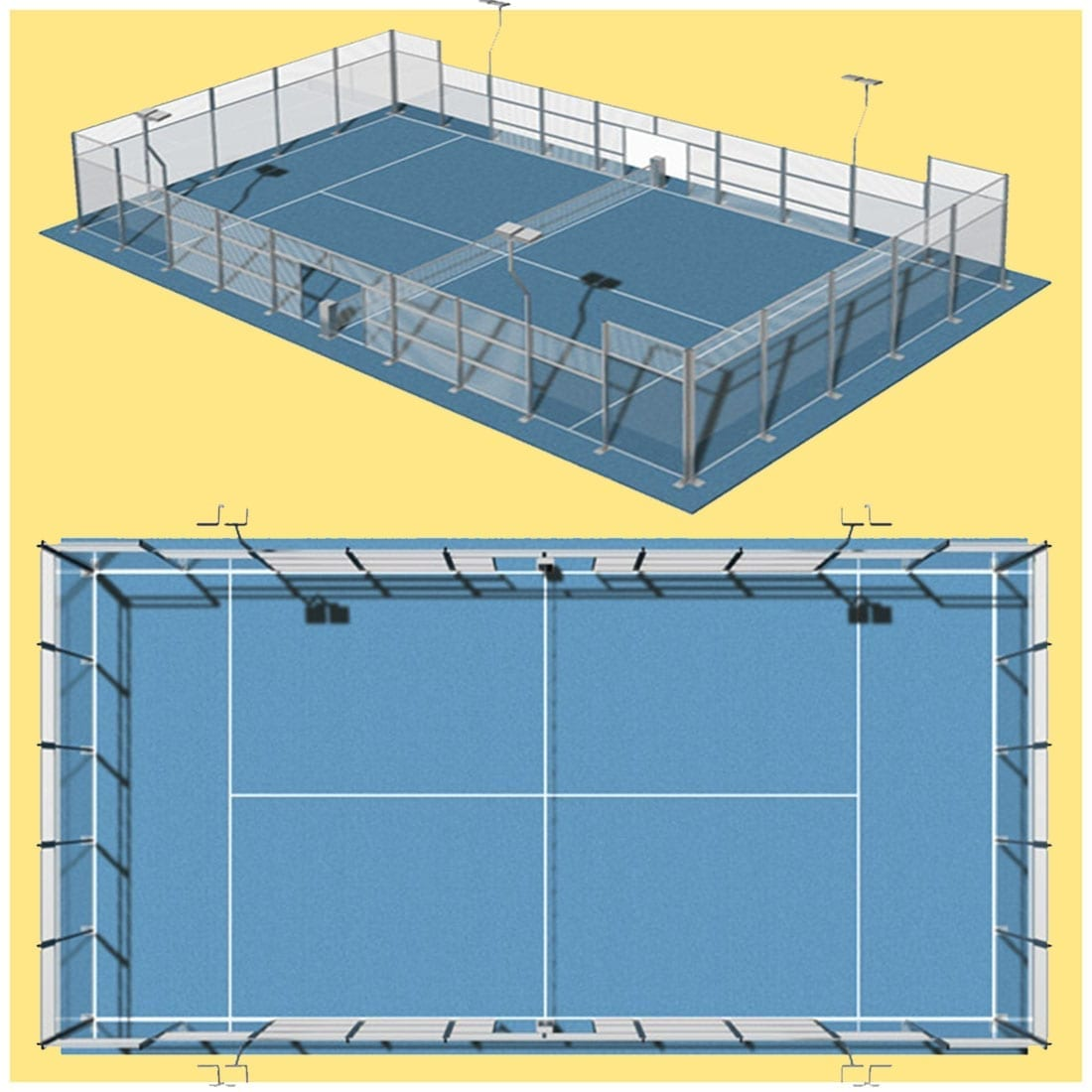 Post: Official Padel Court Dimensions. Your Online Padel Shop, Blog Page on what you really want to know concerning Padel/Paddle