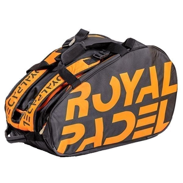 Padel Thermo Sports Bag. Padel Bags and Padel Backpacks, Model Super Combi 2021 Royal Padel Orange and Black 02