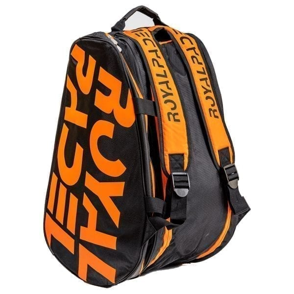 Padel Thermo Sports Bag. Padel Bags and Padel Backpacks, Model Super Combi 2021 Royal Padel Orange and Black 03
