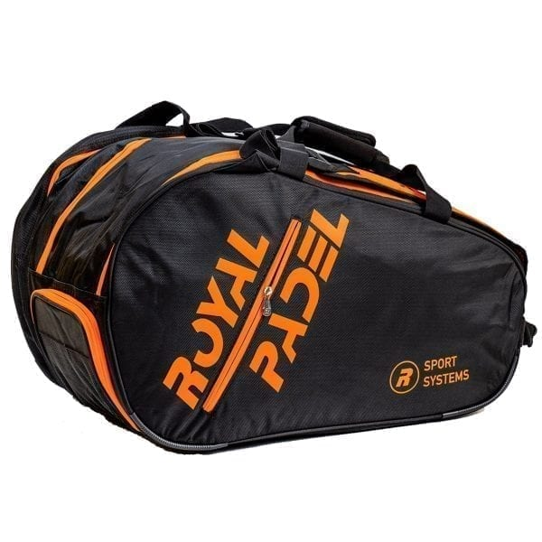 Padel Thermo Sports Bag. Padel Bags and Padel Backpacks, Model Super Combi 2021 Royal Padel Orange and Black 04
