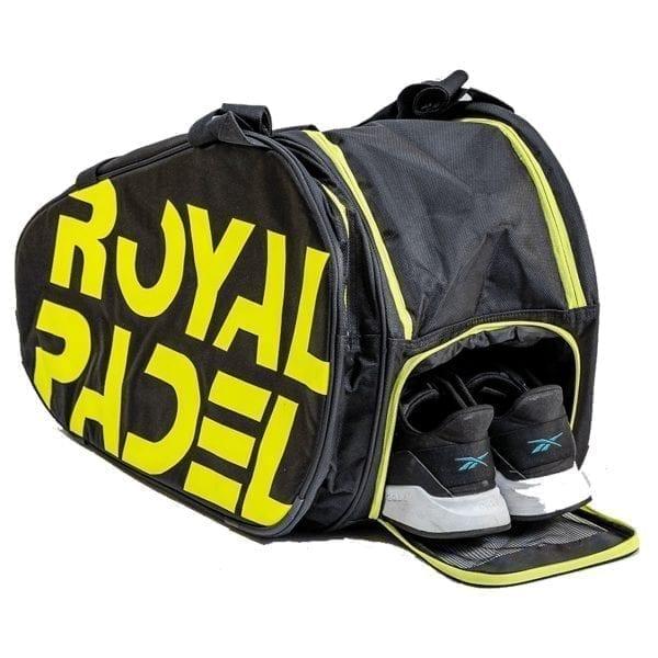 Super Combi Thermal Padel Sports Bag, Black and Yellow, Royal Padel 01
