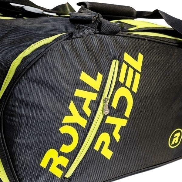 Super Combi Thermal Padel Sports Bag, Black and Yellow, Royal Padel 04