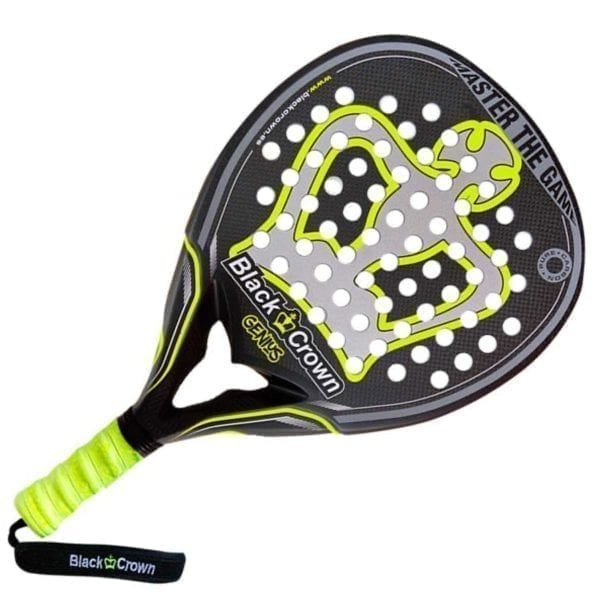 Padel Racket, Paddle Tennis Racquet Genius 2021 Black Crown, Level: Advanced and Professional 02